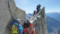 <h5>Stau</h5><p>Wie so oft in den klassischen Touren im Mont Blanc Gebiet: Stau!</p>