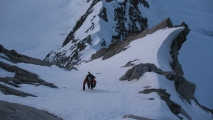 <h5>Küffnergrat, 4a 60°. Mont Maudit</h5>